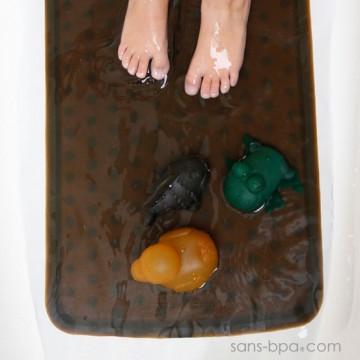Tapis de bain caoutchouc - GREY