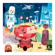 Puzzle ROBOTS 42 pièces de MudPuppy