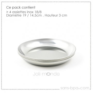Lot 2 Assiettes inox - La P'tite