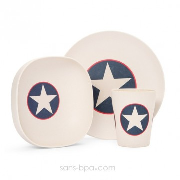 Set vaisselle biodégradable - Navy Star
