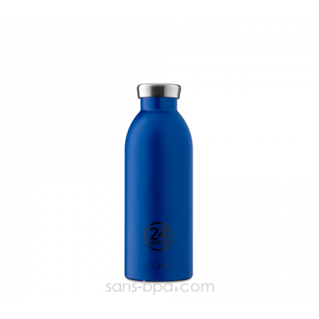 Cabosse - Bouteille inox isotherme 500ml CLIMA - Gold Blue - 24 Bottles
