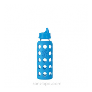 Tasse à boire verre 250 ml BLEU