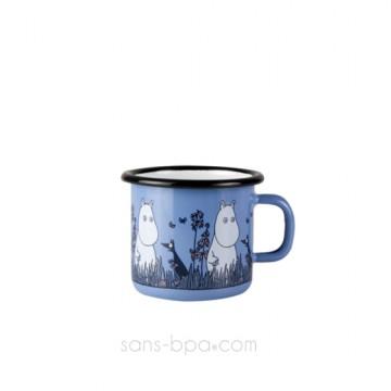 Timbale fer émaillé - Moomin Bleu