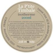 La P'tite timbale inox isolé 200ml