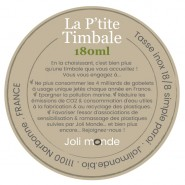 La p'tite timbale inox 180 ml