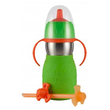 Gourde anti-fuite Safe Sippy 2 verte de Kid Basix