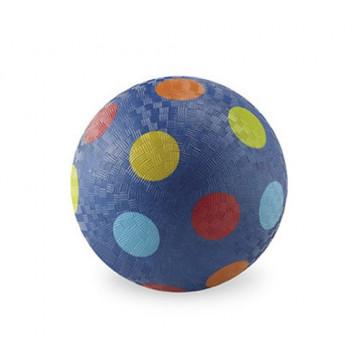 Balle caoutchouc 18 cm BLEU