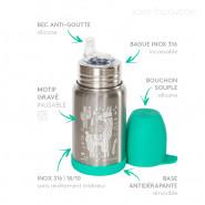 Gourde anti-fuite inox 350ml SIPPY - Colibri