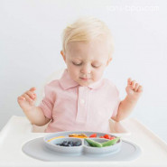 Assiette antidérapante Mini Mat - Rose