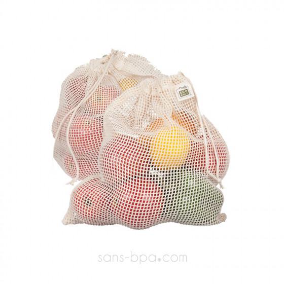 Lot 2 Sacs à fruits filet NET