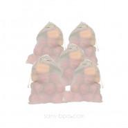 Lot 5 sacs à fruits tissu VOILE