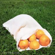 Lot 2 Sacs à fruits tissu VOILE