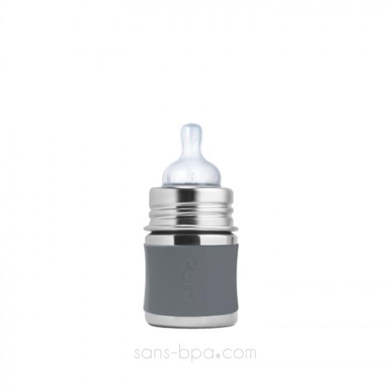 Biberon inox 150 ml - Ardoise