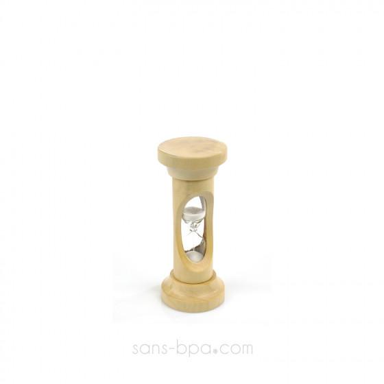 Chronomètre - Sablier bois & verre 3 minutes
