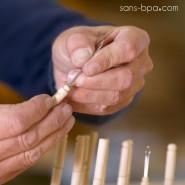 ESCURETTE cure-oreille réutilisable inox & bois