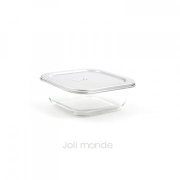 Contenant De verre & d'inox 800ml - Joli Monde