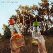 Gourde verre 300 ml - FOREST GREEN