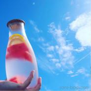 Carafe verre 1200 ml - Bois
