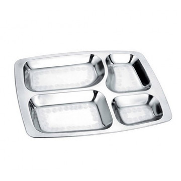 Plateau repas inox RECTANGLE