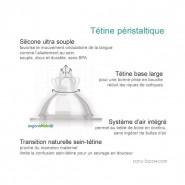 Lot 2 tétines Goulot Étroit - Débit Moyen 3/6 mois - Organic Kidz