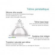 Biberon inox Goulot Large 265 ml - BLEU - ORGANIC KIDZ