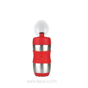 Gourde inox 355ml ROUGE SafeSporter