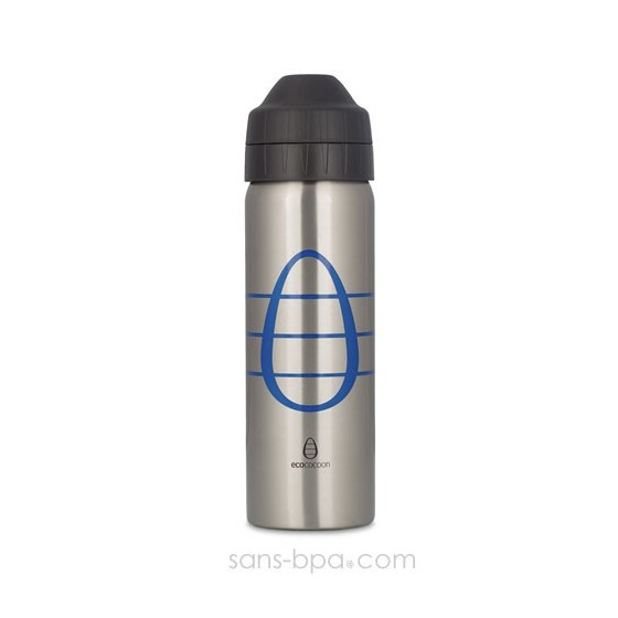 Gourde inox isotherme anti-fuite Cocoon 600 ml - Blue Cocoon - Ecococoon
