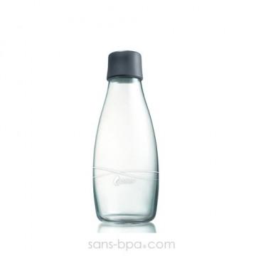 Gourde verre 500 ml GREY