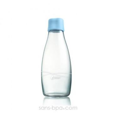 Gourde verre 500 ml - BABY BLUE