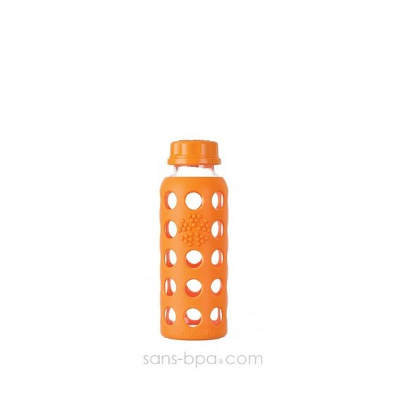 Bouteille en verre 250 ml - ORANGE - LIFEFACTORY