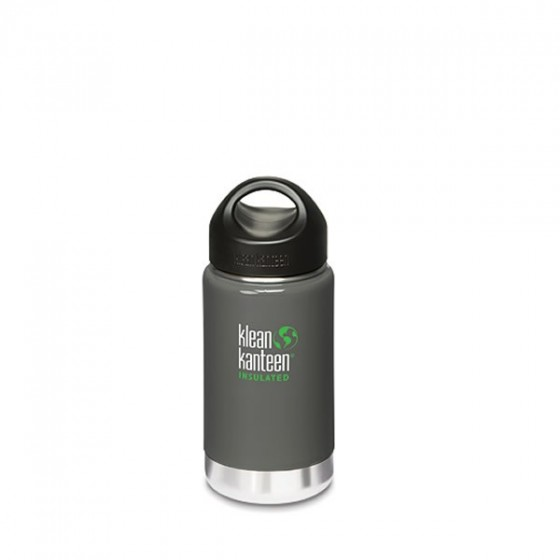 WIDE INSULATED - Bouteille inox Isotherme - GREY 355 ml - KLEAN KANTEEN