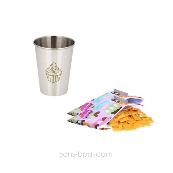 Mini Pochette Itzy CUP CAKE & son verre
