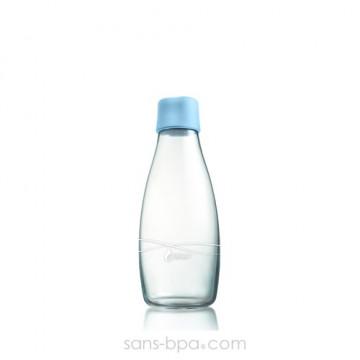 Gourde verre 300 ml - BABY BLUE