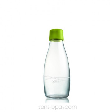 Gourde verre 300 ml - FOREST GREEN
