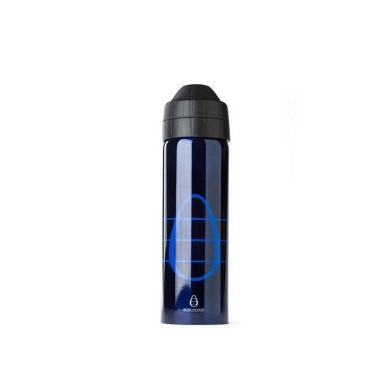 Gourde inox isotherme anti-fuite Cocoon 600 ml - Blue inox - Ecococoon