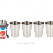 Set 4 verres 350 ml WHITESPOT