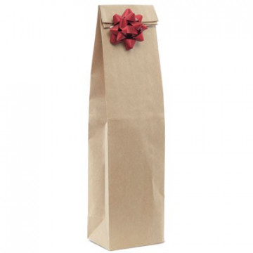 Pochette cadeau kraft gourde