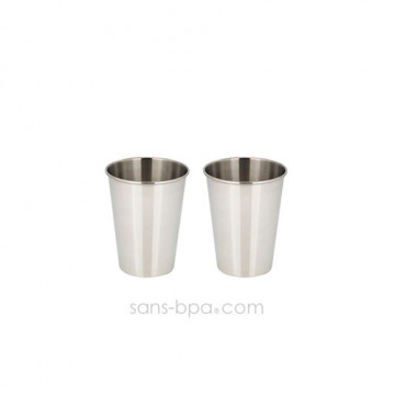 Lot 2 verres inox 350 ml