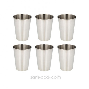 Lot 6 verres inox 350 ml