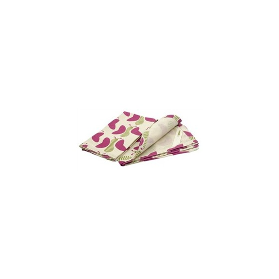 Lot 2 serviettes Set coton recyclé SQUIGGLE