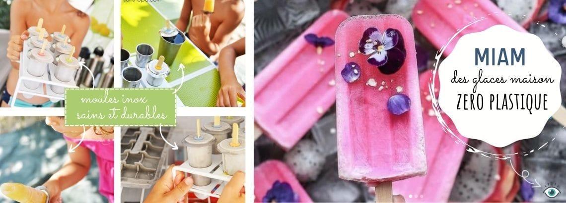 Des moules à glaces inox pour du fait maison sain et durable... et sans plastique sur sans-bpa.com !
